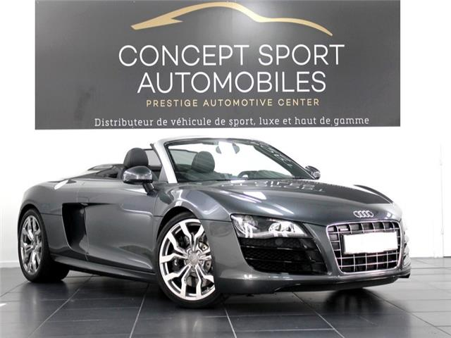 audi r8 spyder 5 2 v10 r tronic akrapovic occasion seyssinet pariset. Black Bedroom Furniture Sets. Home Design Ideas