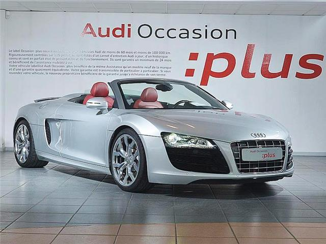 audi r8 spyder 5 2 v10 fsi r tronic occasion artigues pr s bordeaux. Black Bedroom Furniture Sets. Home Design Ideas